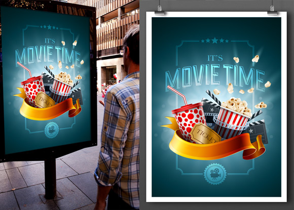 variable poster mockup template on behance