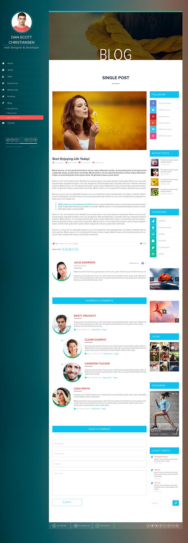 ispy  cv  blog  portfolio psd on behance