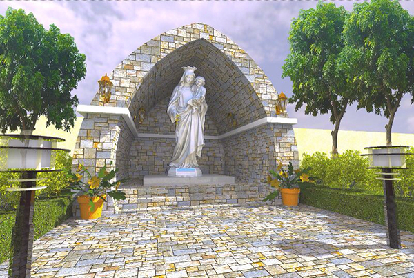 A simple grotto design on behance for Garden grotto designs