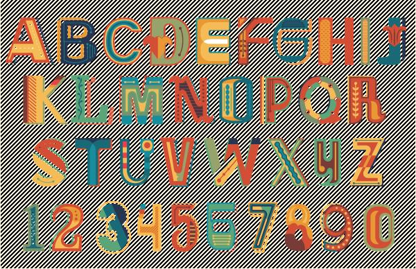 Vintage small town fair alphabet on behance altavistaventures Gallery