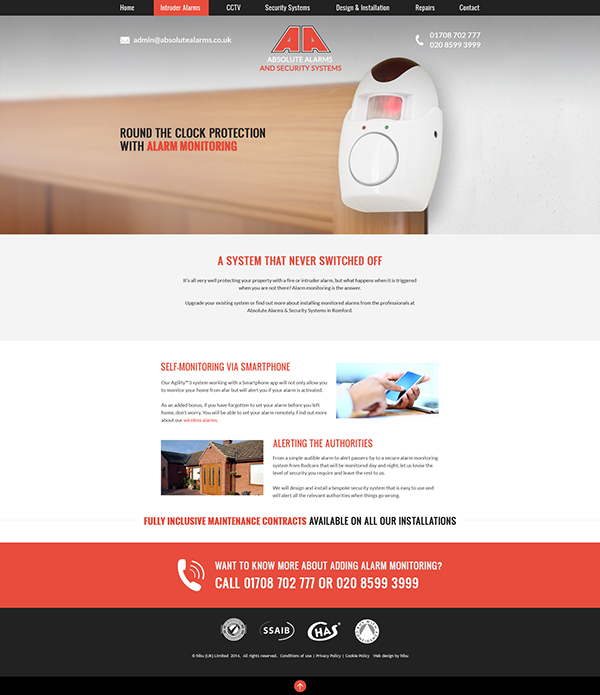 redesign Security Alarms