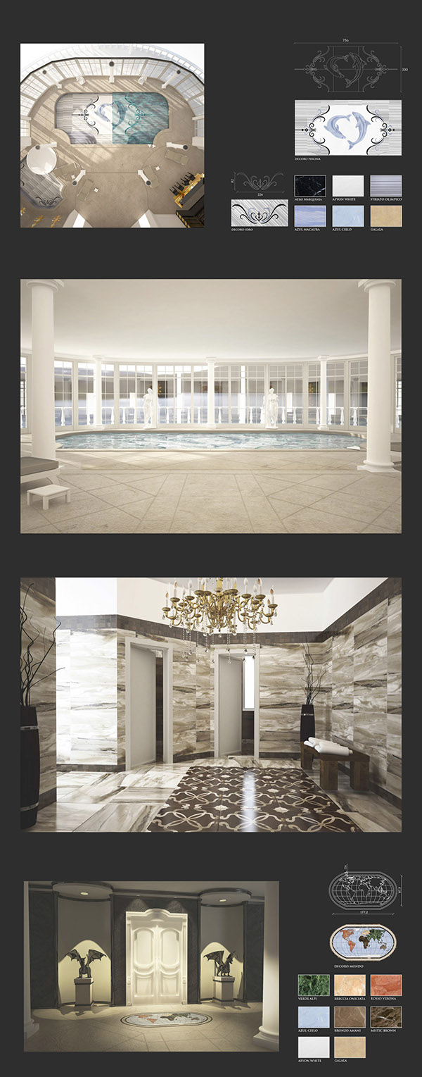 3D Render Marble marmo luxury Interior