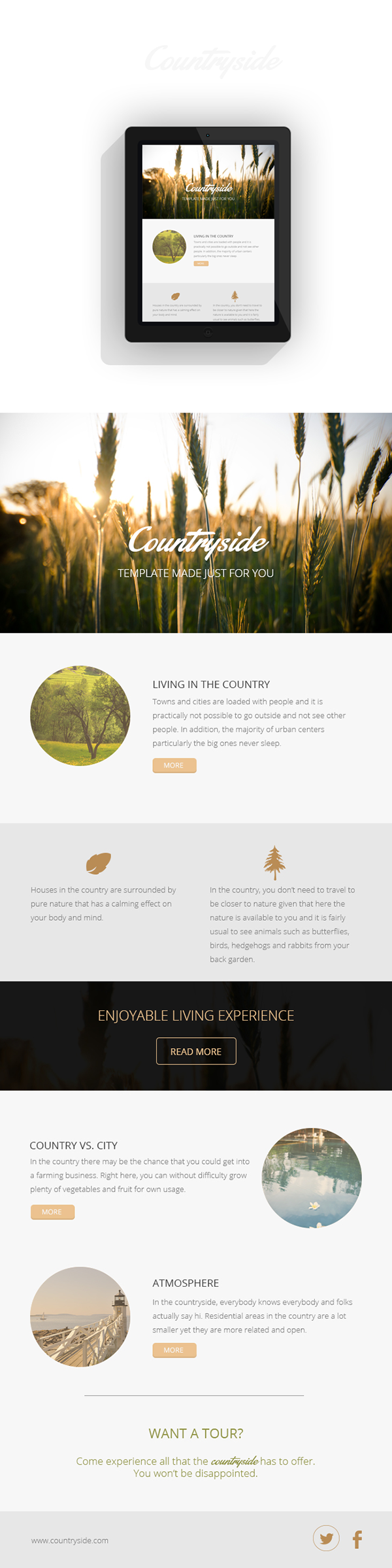 Free Countryside Email Template Psd On Behance