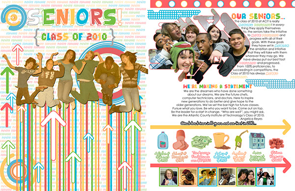 Yearbook page ideas for high school in high school this page