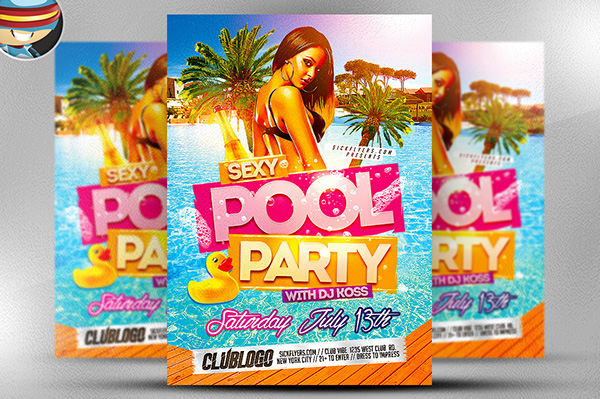 Pool Party Flyer Template From FlyerHeroes Is Fully Editable Photoshop  PSDs. Once You Have Downloaded This Template, Using Adobe Photoshop CS4+  You Can Make ...