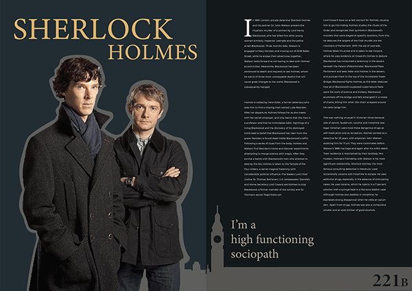 Magazine Spread - Sherlock Holmes