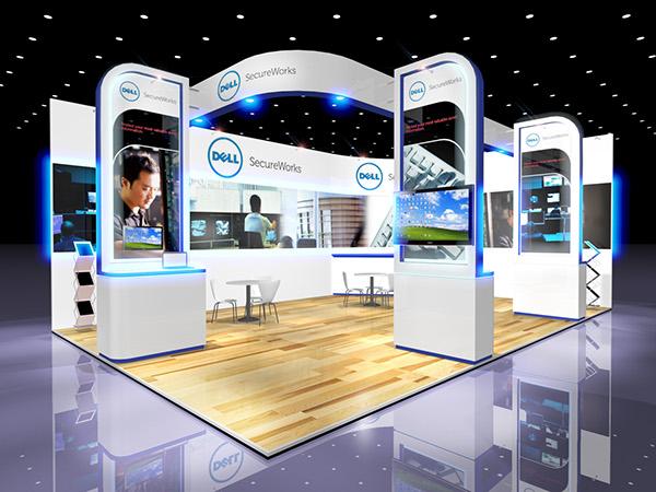 Exhibition Stand Design Behance : Dell secureworks exhibition stand design on behance