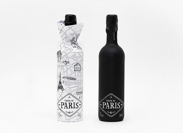 wine Paris Labeldesign citymap