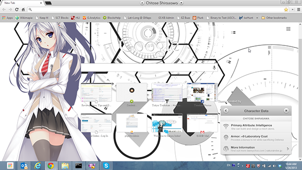 Chitose Shirasawa Google Chrome Theme on Behance