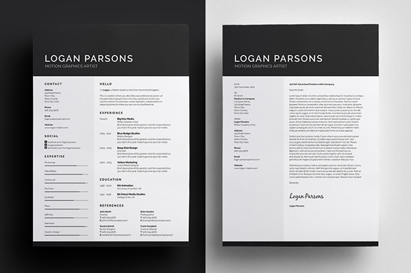 resume template from designer bill mawhinney