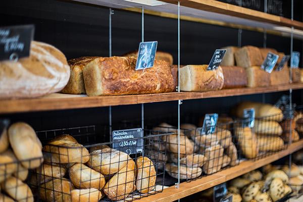 Interior warsaw plywood bakery Przystanek Piekarnia Retail poland Maciej Kurkowski