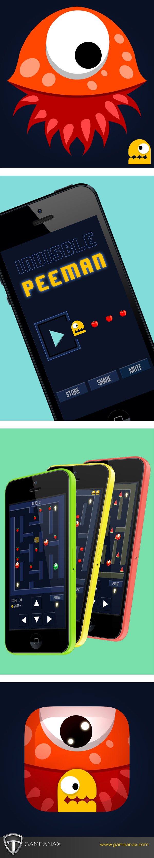 UI ux iphone iPad Pacman mobile gaming Gaming Games