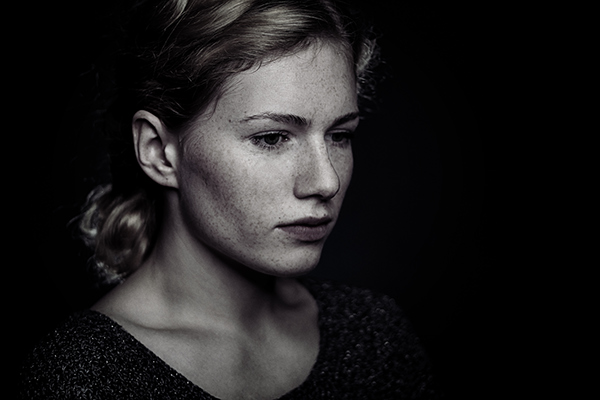 portrait freckles
