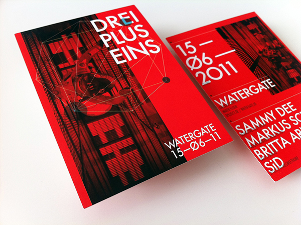 drei plus eins flyer on behance. Black Bedroom Furniture Sets. Home Design Ideas