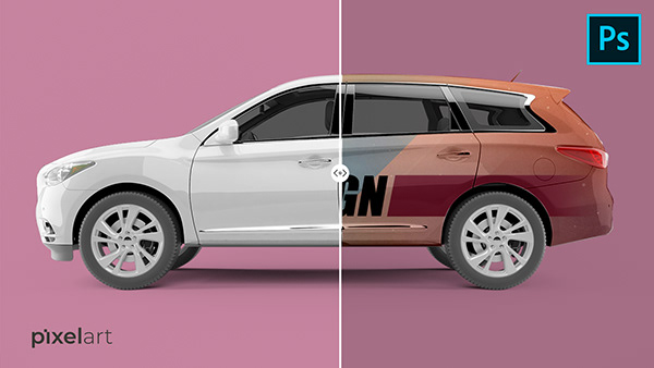 How To Create Car MockUp Using Smart Object