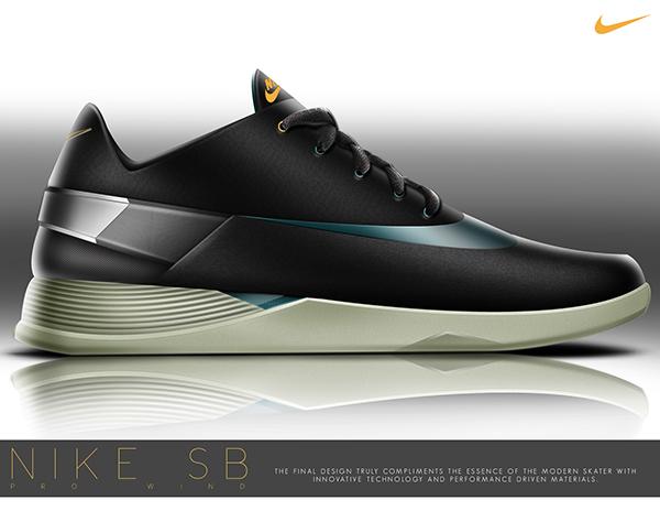 Nike Sb Pro Wind Performance Skate Shoe On Behance