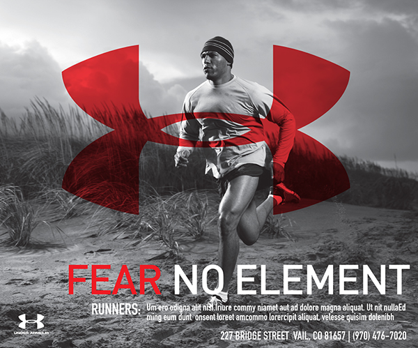 Branding campaign for vail under armour to run in the vail daily