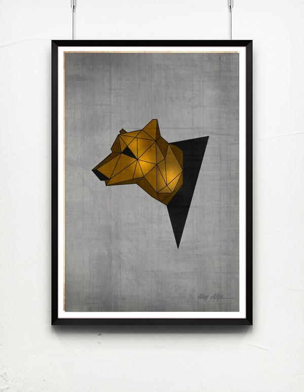 Geometric Animal Heads on Behance