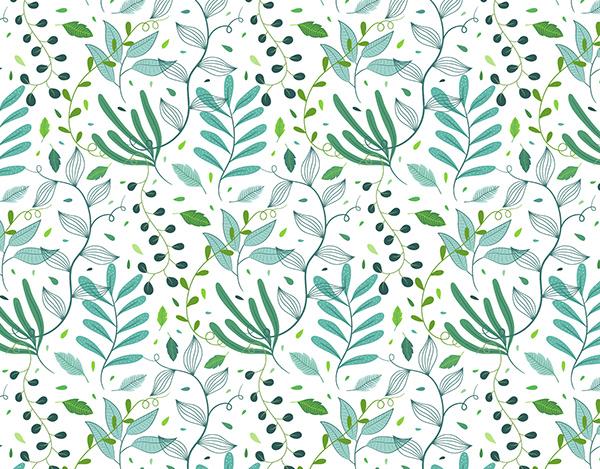 Greenery seamless pattern (light variation)
