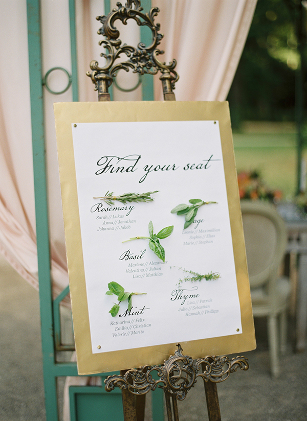 Idea of the Week :: Wedding Seating Chart | At First Blush & Co. Events