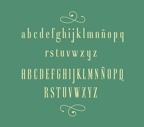 ayres fontface type condensed elegant