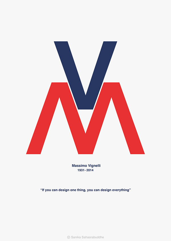 Massimo Vignelli on Behance
