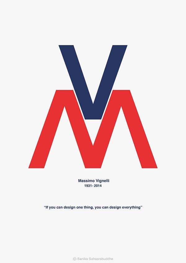 Massimo Vignelli on Behance