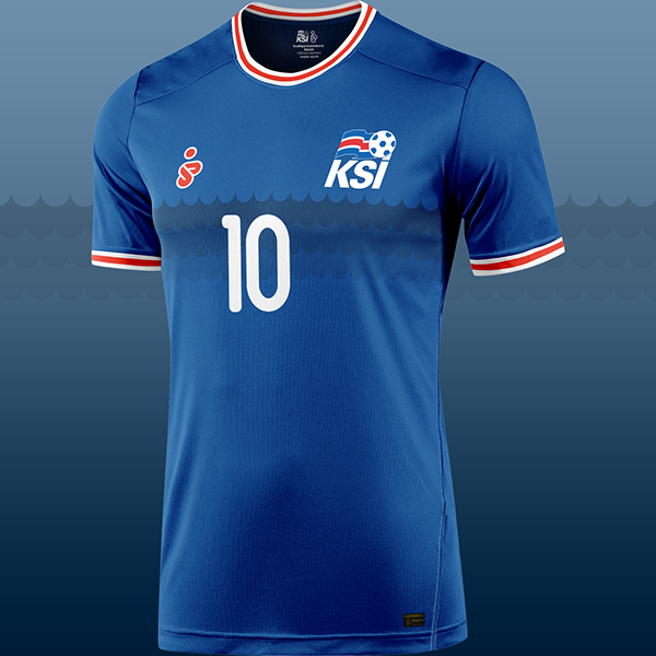 66392fc4f79 Iceland National Football Team Kit Design Concept on Behance