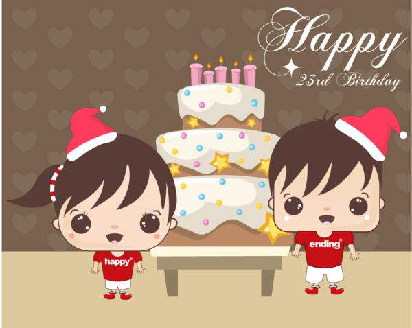 Happy Christmas Birthday on Behance – Christmas Birthday Card