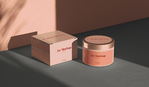 Cosmetic Jar Mockup Set Download