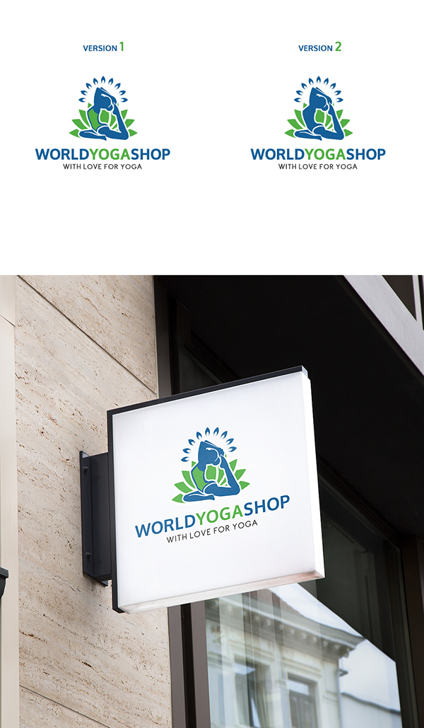 World Yoga Shop Logo Concept On Student Show