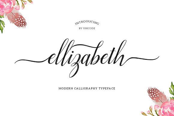 Elizabeth Is A Script Typeface Beautiful Calligraphy And Modern With Inreguler Baseline This Font Suitable For Wide Range Of Products Each Project