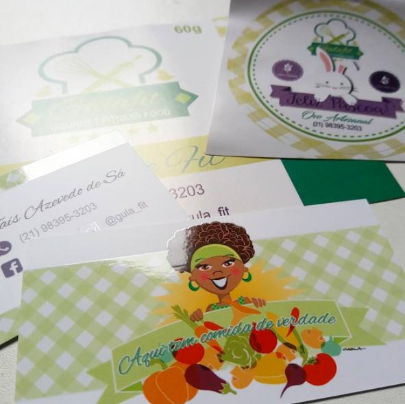 Character mascote identidade visual Cartão de Visita Rótulos embalagens