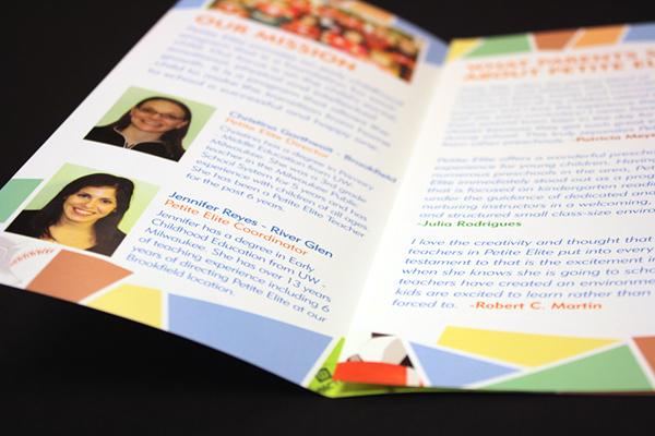 Preschool brochure trifold Milwaukee Wisconsin