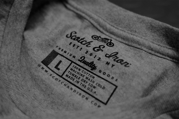 Scotch iron on behance for Iron on shirt labels