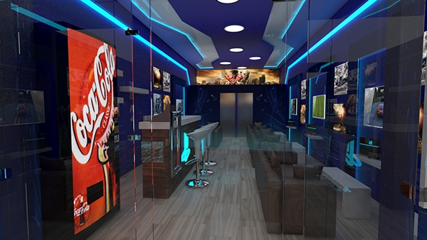 Playstation Cafe Design On Student Show