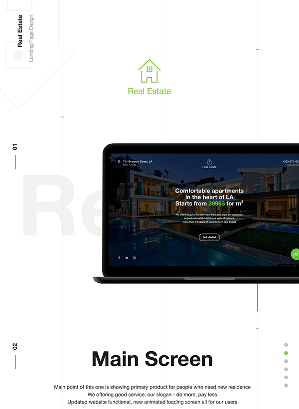 Real Estate Agency E-commerce Landing Page
