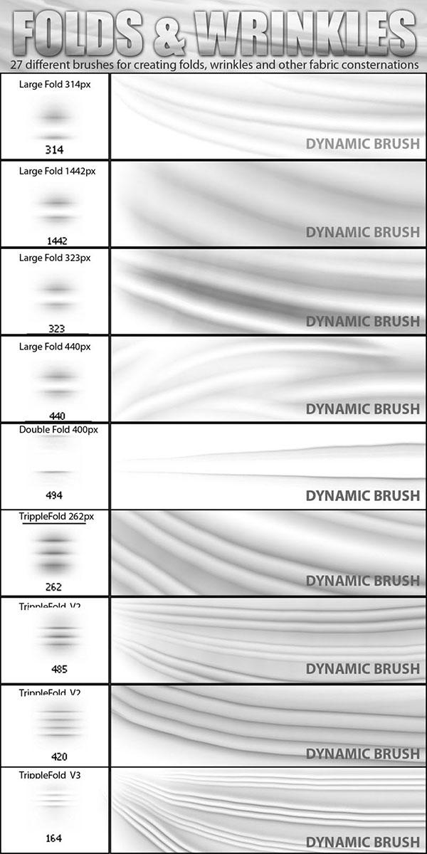 Photoshop Folds and Wrinkles Dynamic Brush Set on Behance