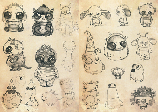 Character Design Concept Sketches : Character concept sketches on behance