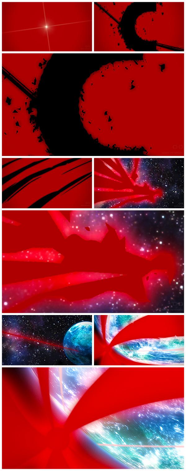 H&C TC JATWW 80s nostalgia Love traditional animation anime Corn-Quistos Ident