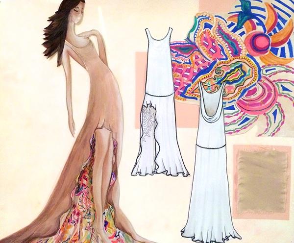 "1920s concept board art-deco prints ""New Woman"" Flats glamour risd"