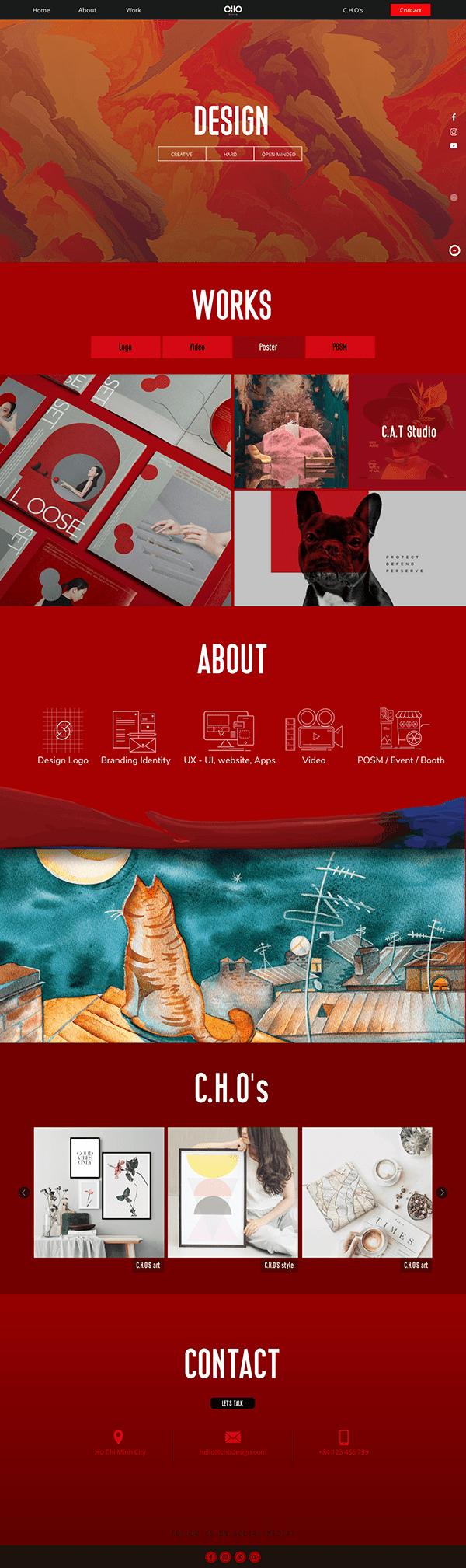 UI Design - Art Website - by Chou