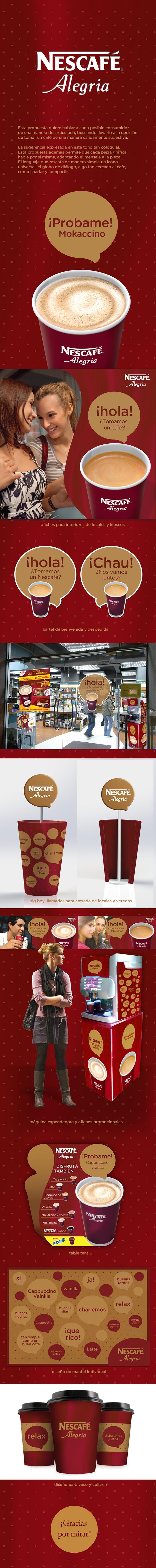 cafe Coffee nescafe alegria pop Point of Purchase diseño