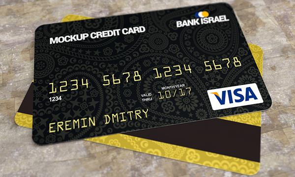free Mockup Visa Master Card credit card psd download realistic new