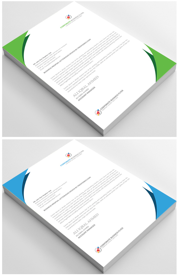 Free Letterhead Templates in Microsoft Word, Adobe