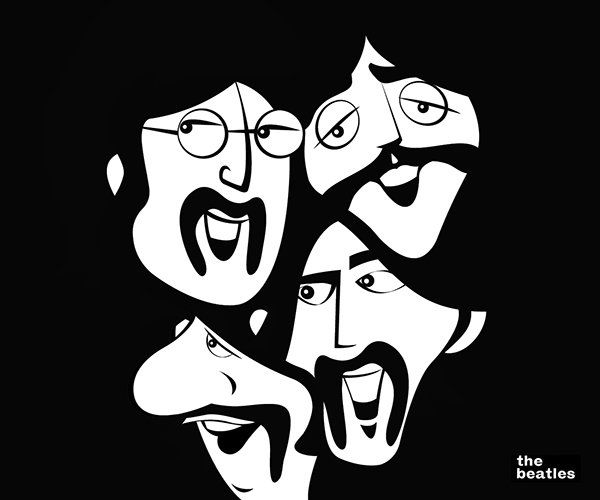 I Was Fortunate Enough To Be Asked Create An Illustration That Would Featured On A Poster Celebrated Your Favorite Band Of All Time The Beatles