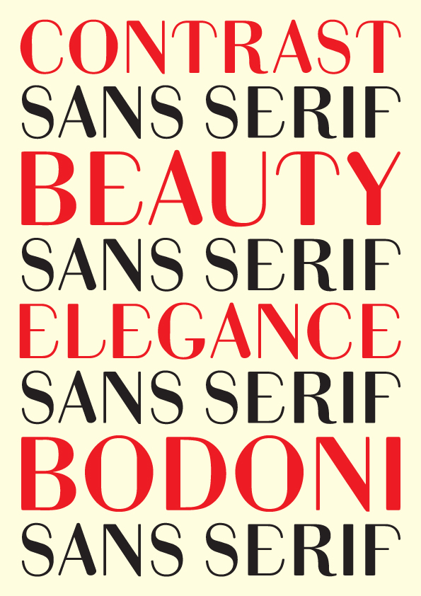 Bodoni Sans Serif on Behance
