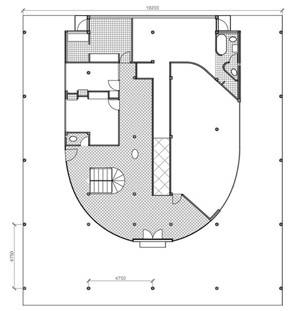 visualize villa savoye on behance