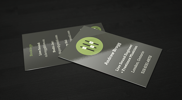 Live sound engineer fader icon business card on behance thank you reheart Images