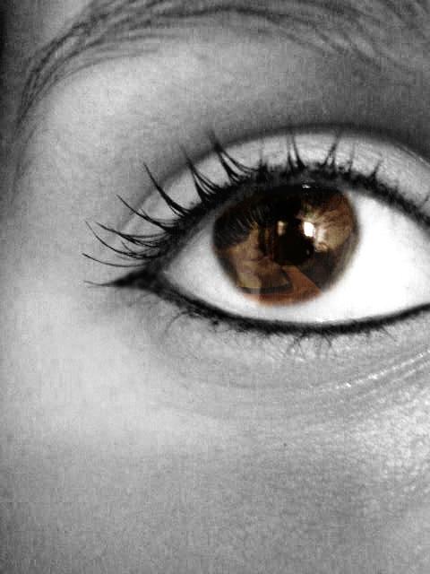 Image may contain: close-up, eyelash and organ